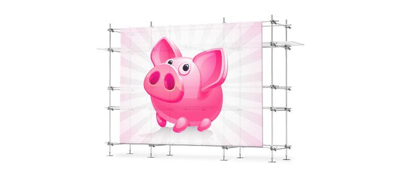 Banner Netz gross Werbung Blache Baustelle Ausstellung günstig billig drucken