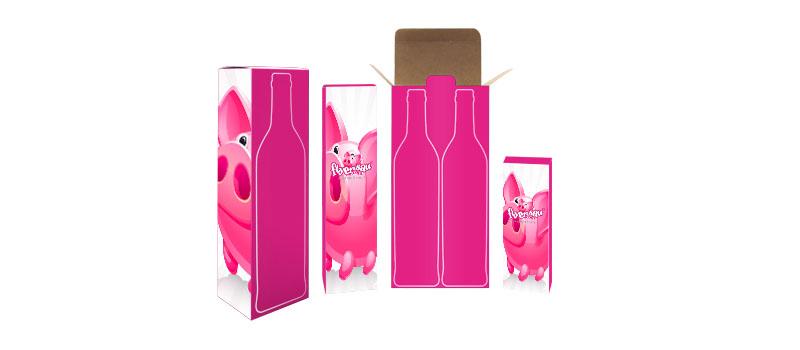 Weinflasche Weinflaschenkarton Karton Geschenk günstig billig drucken