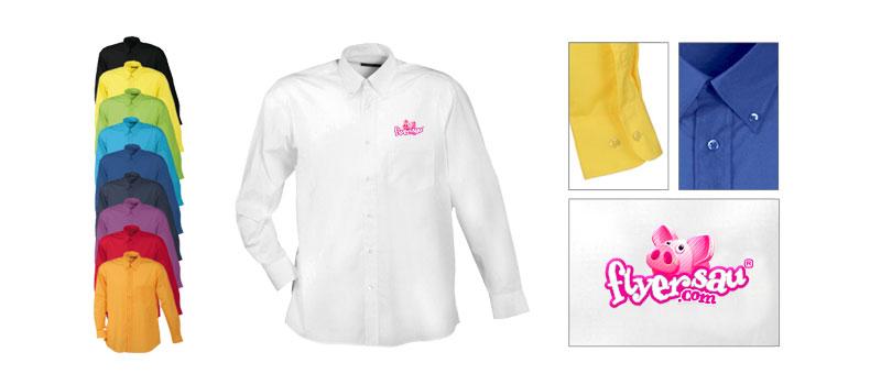 Hemd Herrenhemd Hemden Mann Herren mit Firmenlogo Restaurant Hotel Bekleidung günstig billig drucken