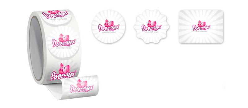 Etiketten Kleber Etikettenkleber mit Logo Firmenlogo günstig machen billig drucken