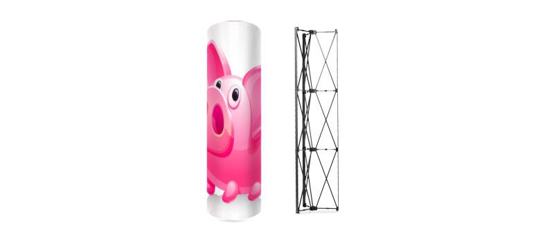 Tower leicht zum aufstellen Turm Pop-UP günstig billig drucken