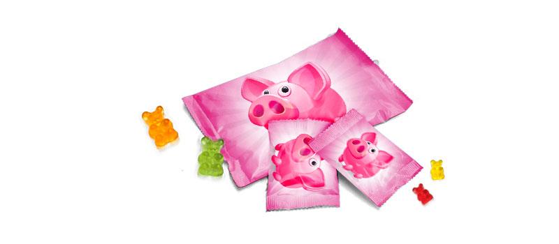Fruchtgummi Gummibären Gummibärchen mit Logo Firmenlogo günstig machen billig drucken